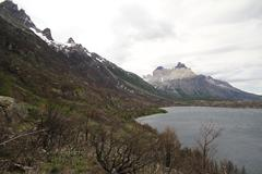 Stock Photo of w trek on torres del paine park