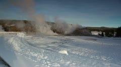 Yellowstone Geyser 3088 01 Stock Footage