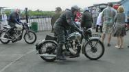Vehicles Transportation Vintage Motorcycles Stock Footage