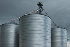 Grain Silos - stock photo