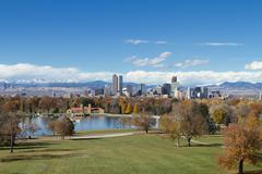 Stock Photo of Denver Skyline Wide Angle
