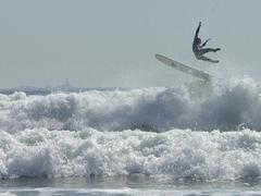 Surfer Takes Air Stock Photos