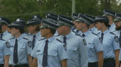 Queensland Police Graduation Ceromony (10) Stock Footage