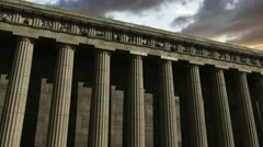Parthenon at sunset Stock Footage
