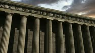 Stock Video Footage of Parthenon at sunset