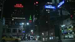New York City at 9th Ave. & West 34th St. Stock Footage