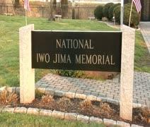Iwo Jima sign Stock Footage
