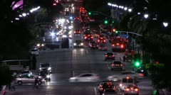 TRAFFIC - NIGHT - TIME LAPSE Stock Footage