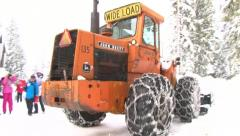 Heavy Snow Plowing Streets Stock Footage