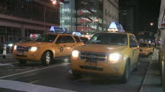 New York Cabs Stock Footage