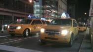 Stock Video Footage of New York Cabs
