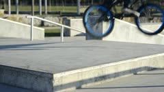 Bmx rider in action - stock footage