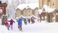 Stock Video Footage of Children Playing in the Snow