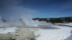 Yellowstone HotSpring 3046 Stock Footage