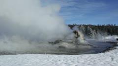 Yellowstone Geysers 3017 Stock Footage