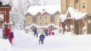Kids Playing in the Snow Stock Footage