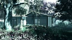 Japanese Garden and House Stock Footage