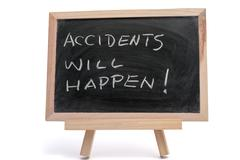 accidents will happen - stock photo