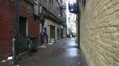 San Francisco, alley,b Stock Footage