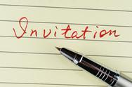 Stock Photo of invitation word