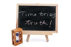 Time tries truth Stock Photos