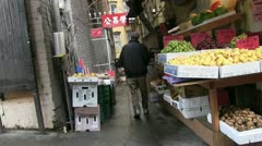 San Francisco, store alley Stock Footage