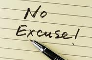 Stock Photo of no excuse