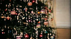 Beautiful Star On Christmas Tree-1958 Vintage 8mm film Stock Footage