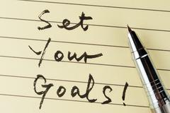 set your goals - stock photo