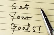Stock Photo of set your goals