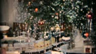 Stock Video Footage of Christmas Tree And Random Bits-1958 Vintage 8mm film