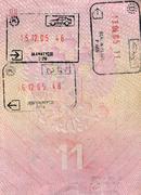Passport. Passport control at the customs Stock Photos