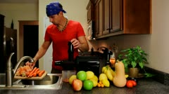 Juicing Carrots Stock Footage