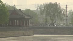 Construction at Forbidden City, Beijing, China Stock Footage