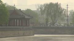 Construction at Forbidden City, Beijing, China - stock footage