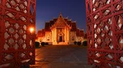 Wat Benchamabophit Stock Footage