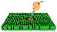 Key, lock, maze Stock Illustration
