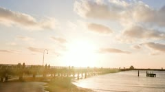 St Kilda pier sunset Stock Footage