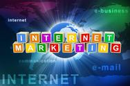 3d internet marketing Stock Illustration