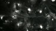 Xmas lights bw Stock Footage