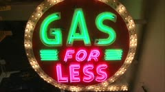 Gas For Less Stock Footage