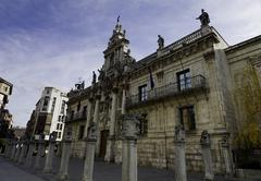 Baroque facade of university of valladolid Stock Photos
