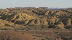 Baja Desert Mountains pan Stock Footage