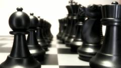 Chess pieces in formation Stock Footage