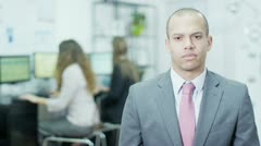 Portrait of a businessman who is tired and stressed - stock footage