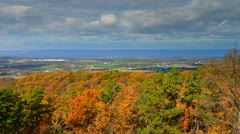 Spectacular timelapse of fall Foliage landscape panorama in Pennsylvania, USA ti - stock footage