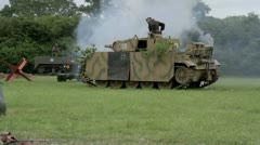 German tank destroyed by American Soldiers Stock Footage