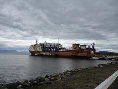 ferry puerto natales to puerto montt - stock photo