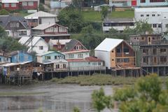 Stock Photo of castro on chiloe island, chile