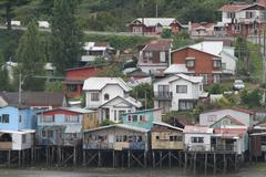 Castro on chiloe island, chile Stock Photos